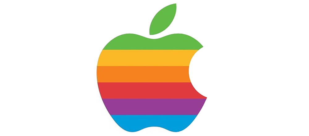 logo apple rainbow